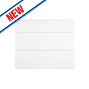 Pan 3-Drawer Fronts White Gloss Handleless 796 x 732mm