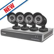 Swann SWDVK-844004 8-Channel 960H CCTV Digital Video Recorder w/ 4 Cameras
