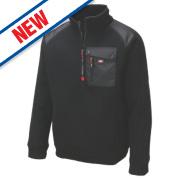 Lee Cooper Ribbed Fleece Jacket Black Medium