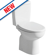 Space Saver Close Coupled Corner Toilet Dual Flush 4/6Ltr