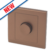 Retrotouch Simplicity 1-Gang 1-Way Rotary Push On/Off Dimmer Switch Bronze