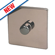 Varilight 1-Gang 2-Way Push On/Off Dimmer Switch 230V