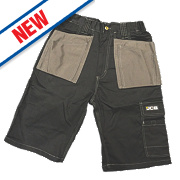 "JCB Keele Shorts Black 34"" W"