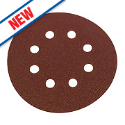 Flexovit Sanding Discs Punched 125mm Assorted Grit Pack of 6