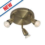 Saxby Amalfi 3-Light Spotlight Antique Brass