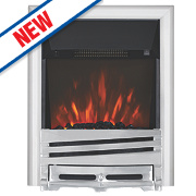 Focal Point Horizon Chrome Switch Control Electric Freestanding Fire