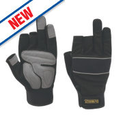 DeWalt Performance 3-Finger Framers Gloves Black/Grey Large