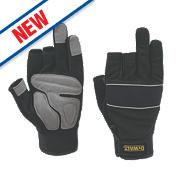 DeWalt Performance 3-Finger Framers Gloves Black/Grey Large