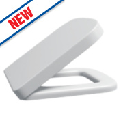 Supreme D-Shape Soft-Close Toilet Seat Polypropylene White