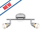Saxby Amalfi 2-Light Spotlight Bar Chrome