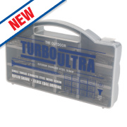 Turbo Ultra Woodscrews Handy Pack Double Self-Countersunk Pack of 350