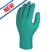 Skytec Teal Nitrile Powder-Free Disposable Gloves Green X Large Pk100