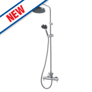 Moretti Arlo Thermostatic Bar Diverter Mixer Shower Exposed Chrome
