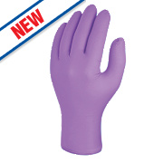 Skytec Iris Nitrile Powder-Free Disposable Gloves Purple Large Pk100