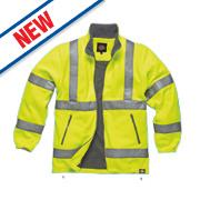 "Dickies Hi-Vis Fleece Jacket Saturn Yellow Medium 42"" Chest"