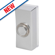 Byron Wired Bell Push Chrome 95 x 35mm