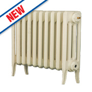 Arroll Neo-Classic 4-Column Cast Iron Radiator Cream 460 x 754mm