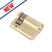 Eurospec 5-Pin Keyed Alike Single Euro Cylinder Lock 50mm Polished Brass