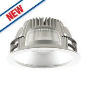 Luceco Fixed Recessed LED Downlight 2200Lm White 22W