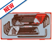 Teng Tools Ball End Hex Key Set 28 Pieces