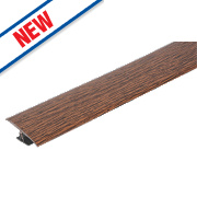 Vitrex Variable Height Wood & Laminate Floor Threshold Dark Oak 50 x 900mm