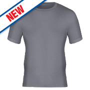 Workforce WFU2400 Short Sleeve Thermal T-Shirt Baselayer Grey Medium 33-35""
