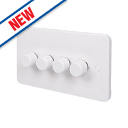Schneider Electric 1-10V 4-Gang 2-Way Push Dimmer Switch 400W White