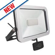 Brackenheath ispot LED Floodlight with Microwave Sensor 20W Black