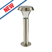 Cole & Bright Gardman Solar Post Light Stainless Steel