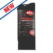 Lee Cooper Thermal Socks Black Size