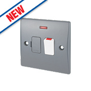 Schneider Ultimate 13A Switched Fused Connection Unit + Neon Grey