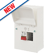 MK Sentry 4-Way Metal Consumer Unit with 100A Main Switch