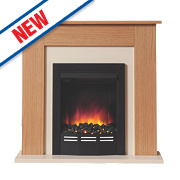 Be Modern Colston Eco Electric Fire Suite Natural Oak