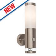 Brilliant Bole ES LED Wall Light Polished Stainless Steel 60W 240V