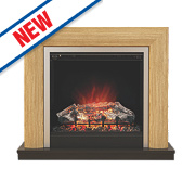 Be Modern Devonshire Contemporary Electric Fire Natural Oak Finish 2kW