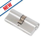 Eurospec 5-Pin Keyed Alike Euro Cylinder Lock 50-50 (100mm) Polished Chrome