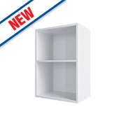 Matt White Slab Kitchen Open Wall Unit 500 x 282 x 738mm