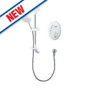 Triton T300si Remote Manual Electric Shower White 9.5kW