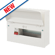 MK Sentry 12-Way Metal Consumer Unit with 100A Main Switch