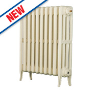 Arroll Neo-Classic 4-Column Cast Iron Radiator Cream 660 x 634mm