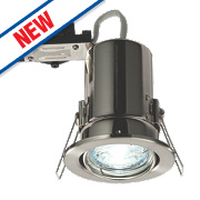 LAP Fire Rated Adjustable LED Downlight IP20 Brushed Chrome 2.5W