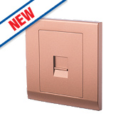 Retrotouch Simplicity 1-Gang Master Telephone Socket Bronze