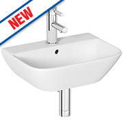 Madrid Wall-Hung Cloakroom Basin 1 Tap Hole 450mm