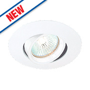 Saxby Rotate Downlight Adjustable GU10 Gloss White 102mm 240V