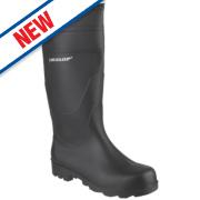 Dunlop Universal Non-Safety Wellington Boots Black Size 12