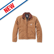 "Carhartt Detroit Jacket Duck Brown X Large 58"" Chest"