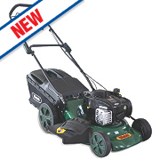Webb WER18HW 46cm 140cc Self-Propelled Rotary High Wheel 4-in-1 Lawn Mower