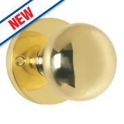 Carlisle Brass Mushroom Mortice Knob Pack Polished Brass 52mm