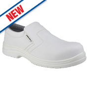 Amblers FS510 Loafer Safety Shoes White Size 10