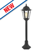 Zinc Bianca Black Outdoor Tall Post Lantern